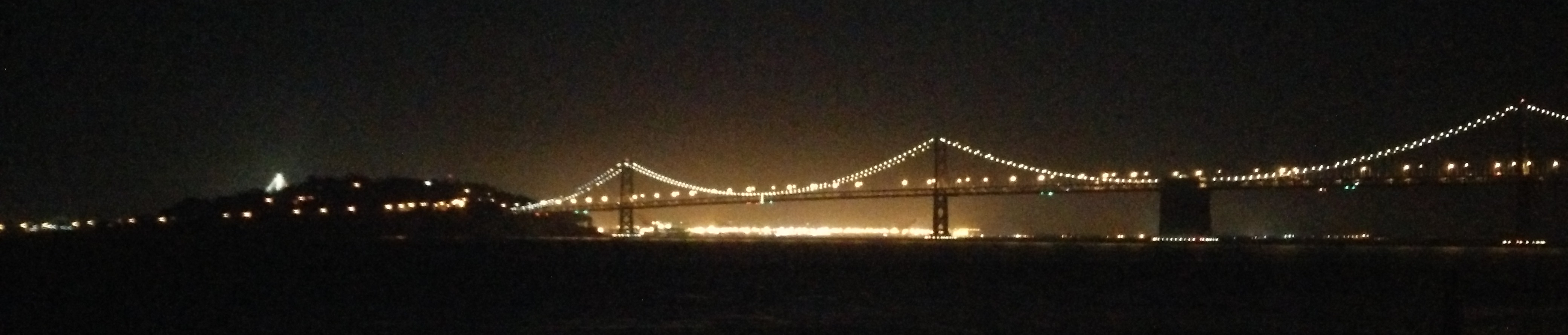 Bridge at Night from Alcatraz